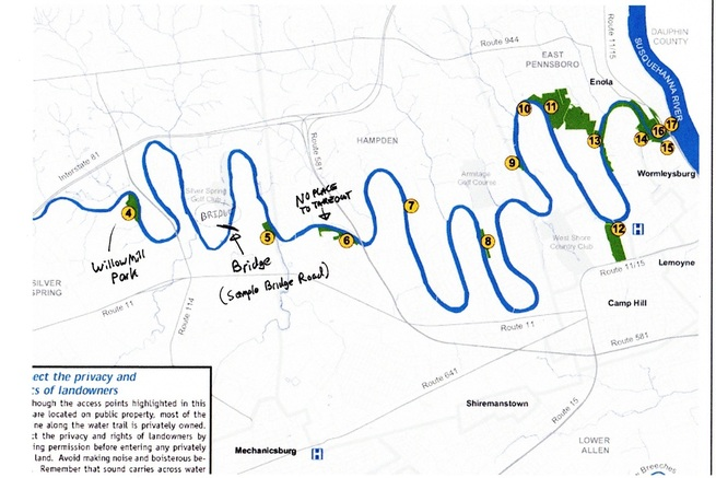 Conodoguinet Creek - Kayaking Camping and Other Hobbies on delaware river fishing maps, sayre athens history maps, kayaking potomac river maps,